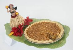 Big Island Macadamia Coconut Pie ~ First place in the honey and bee items/pie category and best-of-show in the honey division ~ The Columbus Dispatch