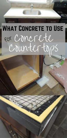 You can't use any old cement for your concrete countertops, especially not Quickrete. Read this post on why!