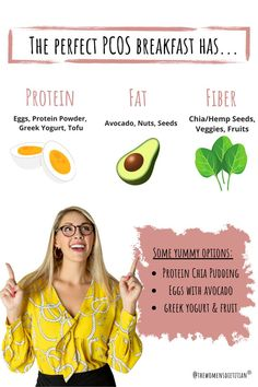 PCOS breakfast recipes include protein, fat, and fiber | PCOS recipes | PCOS diet recipes | PCOS weightloss Pcos Fertility, Natural Fertility, Yoga For Pcos, Losing Weight With Pcos, Pcos And Getting Pregnant, Pcos Pregnancy, Clean Eating Breakfast, Female Hormones