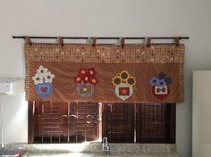Cortina cozinha patchwork