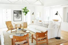 Inside Jenni Kayne's Stunning Living Room Makeover via @MyDomaine