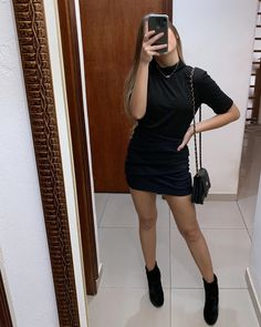 All black outfit - Outfits ta All Black Outfits For Women, White Outfits, Casual Outfits, Fashion Outfits, Clothes For Women, Woman Outfits, Fashion Fashion, Looks Style, Casual Looks