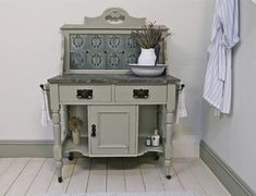 victorian pine painted wash stand by distressed but not forsaken | notonthehighstreet.com