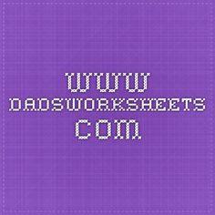 1000+ images about Dad's Worksheets on Pinterest   Worksheets ...