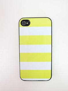 Yellow Striped iPhone Case by whiskeykittens on Etsy, $20.00