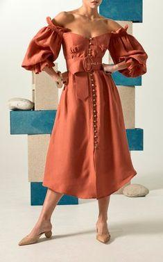 Simona Puff Sleeve Dress by Cult Gaia Resort 2019