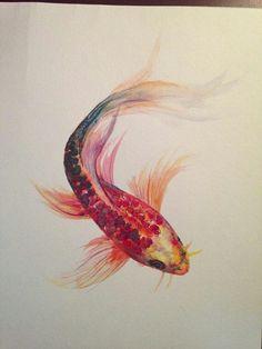 Beautiful koi fish art