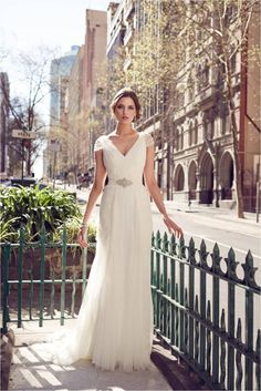 KWH Bespoke - Lyla Cap Sleeve Wedding Dress