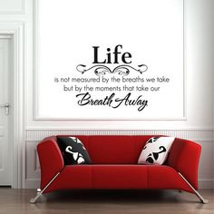 Hotportgift Life Breath Quote Lettering words Motto Poem Vinyl Wall Decal Mural Sticker ** Learn more by visiting the image link.