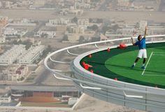 The World's Highest Tennis Court on Top of the Burj Al Arab in Dubai