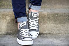 #fashion #shoes converse grigie