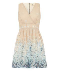 Look what I found on #zulily! Cream Border Floral A-Line Dress #zulilyfinds
