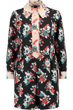 CARVEN Printed crepe shirt dress. #carven #cloth #dress