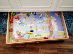 Ana White | Train Trundle - PureBond Plywood - DIY Projects Home Depot Projects, Easy Diy Projects, Wood Projects, Toddler Table, Toddler Rooms, Kid Toy Storage, Lego Storage, Plywood Table, Furniture Plans