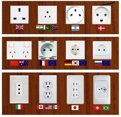 outlets, just in case you want to know or are planning on traveling.