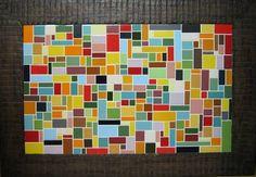 Quadro feito com azulejos, sob MDF. Moldurado. Dimensão: 60 cm x 80 cm (sem contar a moldura) R$ 400,00