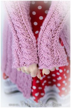 My First Cable Knit Cardigan! Finished Project! - Violet LeBeaux - Free Cute…