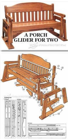 Porch Glider Plans - Outdoor Furniture Plans & Projects | http://WoodArchivist.com