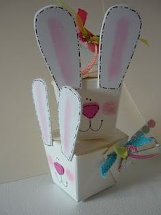Bunny Treat Boxes from Chinese Take-out Boxes