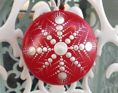 Image result for dot mandala painted ornaments