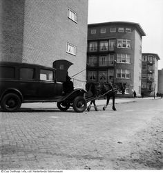 Car powered by one horsepower,  Amsterdam, The Netherlands (1944-1945).