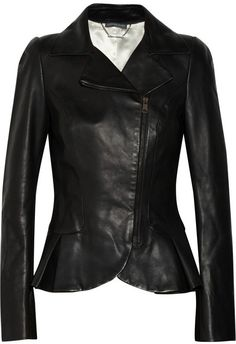 Alexander McQueen Peplum leather jacket - was $4640.0, now $1856.0 (60% Off). Picked by olga @ theOutnet