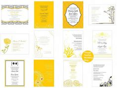 yellow wedding invitations by soo12, via Flickr