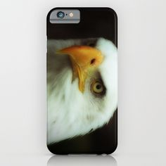 MM - Bald eagle portrait iPhone & iPod Case One more pic of a bald eagle, photo with Orton-effect Here's another portrait of this beautiful bird:  https://society6.com/product/mm-bald-eagle-in-profile_print#1=45 Nature, animal, bird, black, white,yellow, face, portrait,fauna,raptor, beak, bill, nib