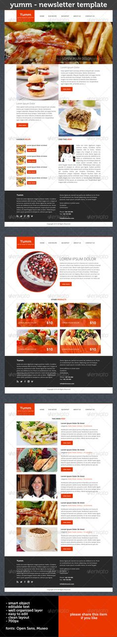 Yumm - Newsletter Template