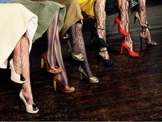 Patterned tights for the office, yes you can  wear these fashion-forward lovelies to work ladies. #tights