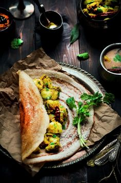 masala dosa recipe - i may have to make this. the batter will need to be a mix because who has fermented lentils??
