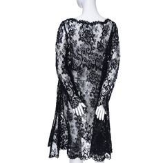 All Lace Oscar de la Renta Black Evening Vintage Dress Trapeze   From a collection of rare vintage evening dresses at https://www.1stdibs.com/fashion/clothing/evening-dresses/