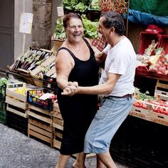 Dancing in the streets of Naples - copyright Carla Coulson