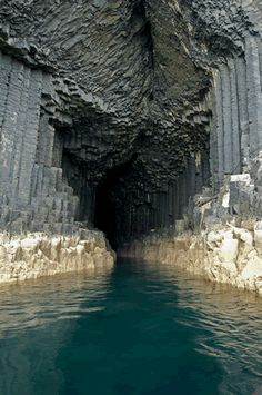 Fingal's Cave, on the island of Staffa off the west coast of Scotland. I went here many years ago and loved it and the puffins who live here