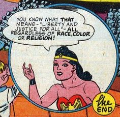 Wonder Woman...just one of the many reasons she IS amazing.                                                                                                                                                                                 More