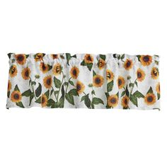 Sunflower Toile Window Curtain Valance measuring 60 x 14 in dimensions from Park Designs. Window Cornices, Window Curtains, Curtain Valances, Fox Decor, Sunflower Design, Thing 1, Colonial Williamsburg, Welcome Spring, Lemon Yellow