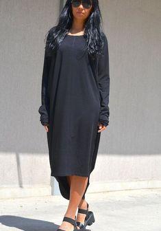 Hi Low Dresses, Elegant Dresses, Loose Dresses, Dress Long, Bijoux Or Rose, Style Noir, Oversized Dress, Edgy Outfits, Cute Fashion
