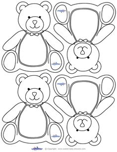 Teddy Bear Baby Shower, teddy bear printables. These would make cute name tags for