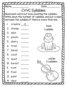 Punjabi Letters Worksheets Word Silent       Canada Worksheets For Kids Excel with Correct Sentences Worksheet Pdf Syllable Patterns C  Le Vcccv And Cvvc No Prep Worksheets Simple Shapes Worksheet Word
