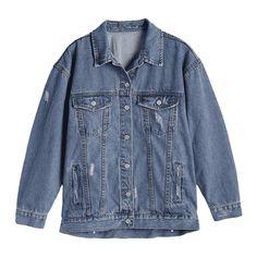 Button Up Ripped Denim Jacket (130 BRL) ❤ liked on Polyvore featuring outerwear, jackets, denim jackets, tops, zaful, denim jacket, distressed jacket, blue jean jacket, blue denim jacket and distressed denim jacket
