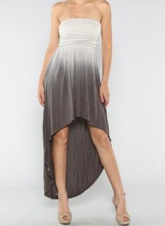 Gray Ombre Hi-Low Dress hopefully instead pink :) Gray Dress, Dress Up, Grey Ombre, High Low Skirt, Hi Low Dresses, Girly Things, Girly Stuff, Dressed To Kill, Fashion Beauty