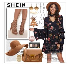 """""""Tiered-Bell-Sleeve-Choker-Neck-Swing-Dress"""" by sabina-220416 ❤ liked on Polyvore featuring Rika, Bobbi Brown Cosmetics, Urban Outfitters, Victoria's Secret, Dolce&Gabbana and Maya Brenner Designs"""