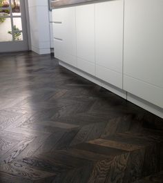 French Oak chevron parquet flooring in Imperial Grey | Austral Flooring