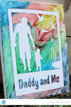 Father's Day Craft: Finger Painted Canvas using stencil material