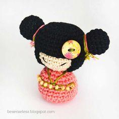 Fujiko Kokeshi amigurumi doll by airali handmade