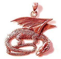 Rose Gold Plated Sleeping Dragon Charm Celtic Jewelry   eBay