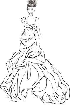 fashion coloring pages Costume History Silhouette Dresses 1940s