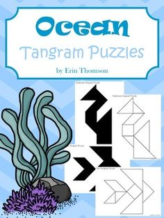 Tangram puzzles can help your students develop problem solving skills and teach them about spatial relationships. You can use these tangram puzzles as a center during an ocean unit, or as a choice for early finishers. Included are 5 line and silhouette puzzles for:FishSailboatWhaleCrabSeahorseThe document also includes the tangram puzzle pieces.
