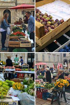 Gundulićeva Poljana Market in Dubrovnik, Croatia | heneedsfood.com