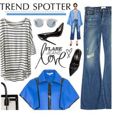 """""""New Trend Alert: Flare Jeans"""" by malussieversii on Polyvore"""